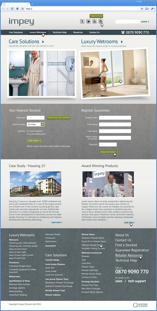 Web page mock-up